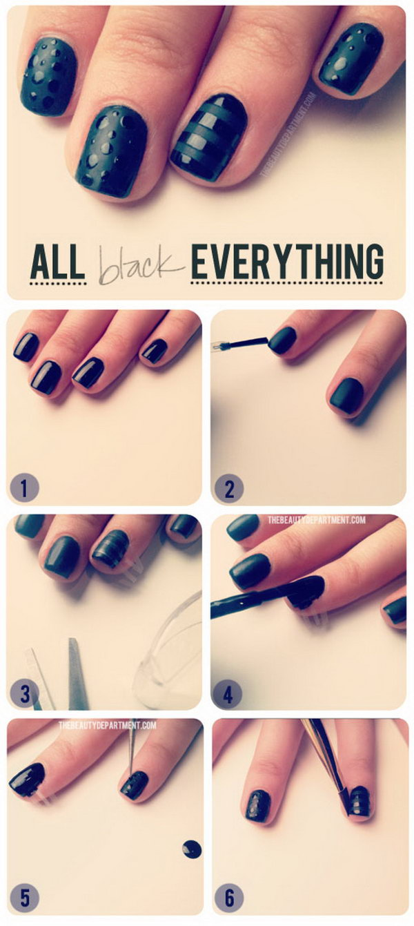 Sometimes You Just Want A Super Chic Black Mani This One S For My Who