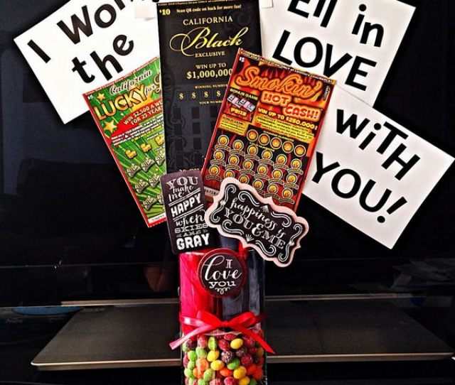 I Won The Lottery When I Fell In Love With You Diy Valentines Day Gift