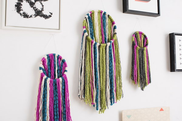DIY Yarn Wall Hanging. Get the directions