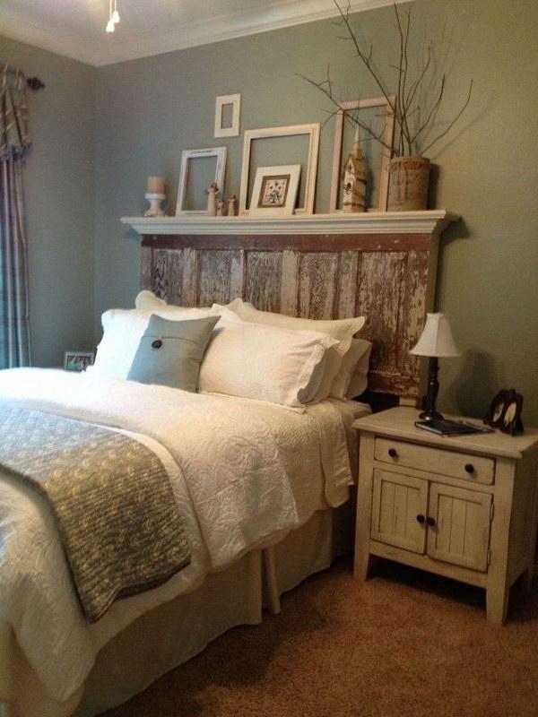 bedroom furniture shabby chic. recycled door shabby chic headboard