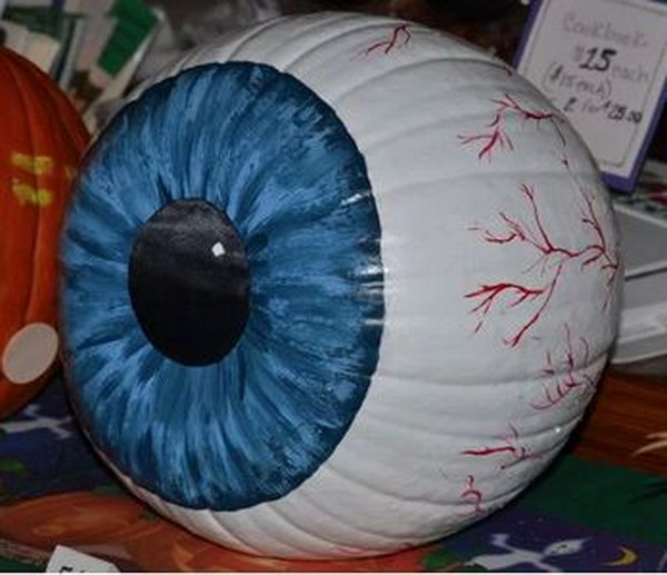 Image result for eyeball painted pumpkin