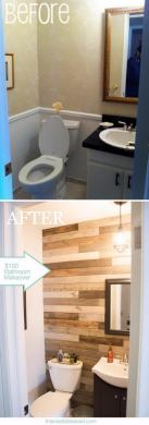 50  Gorgeous Bathroom Makeovers With Before And After Photos   Hative  150 Bathroom Makeover with DIY Pallet Wall without Pallets