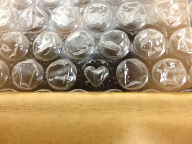 約一万粒に一つ混じっているハート型のプチプチ