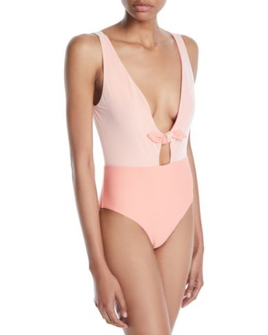 Lucie Tie-Front One-Piece Swimsuit