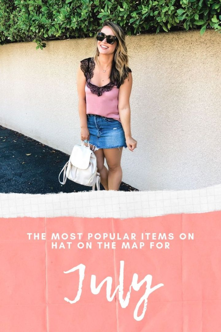 The Most Popular Items for July On Hat On The Map