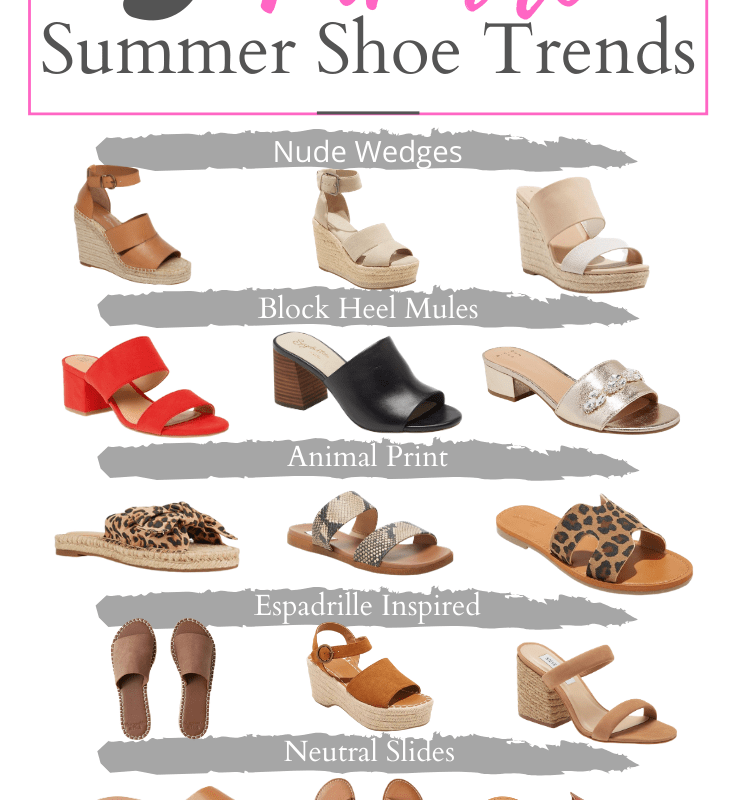 Five Favorite Summer Shoe Trends