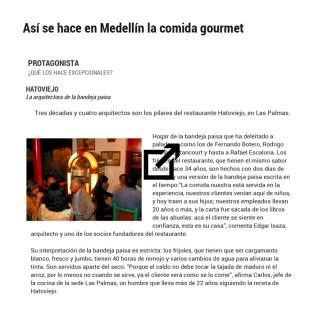 20151219 - El Colombiano - Medellin en cinco sabores