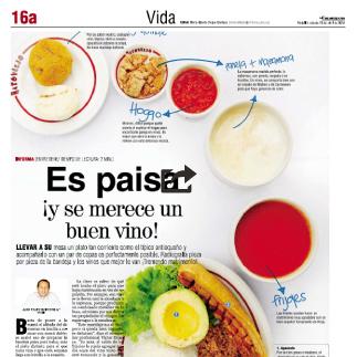 10 de Abril, 2010 El Colombiano, Es paisa ¡y se merece un buen vino!