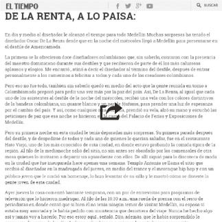 27 de Agosto, 1999 El Tiempo, De La Renta a lo Paisa