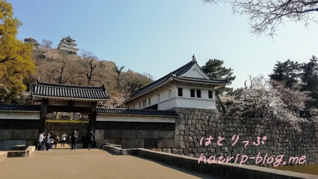 日本一 石垣 丸亀城 大手二の門 大手一の門