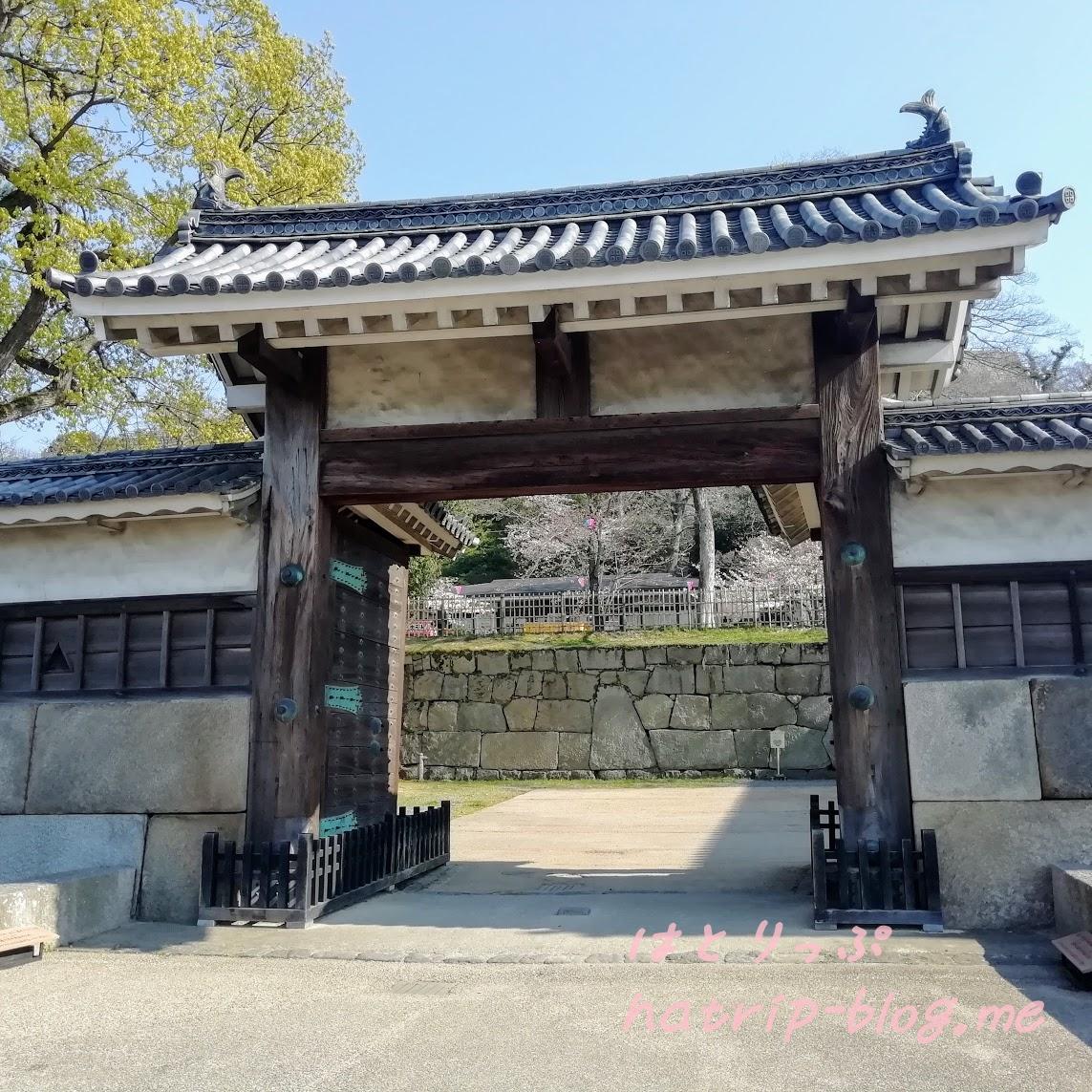 日本一 石垣 丸亀城 大手二の門