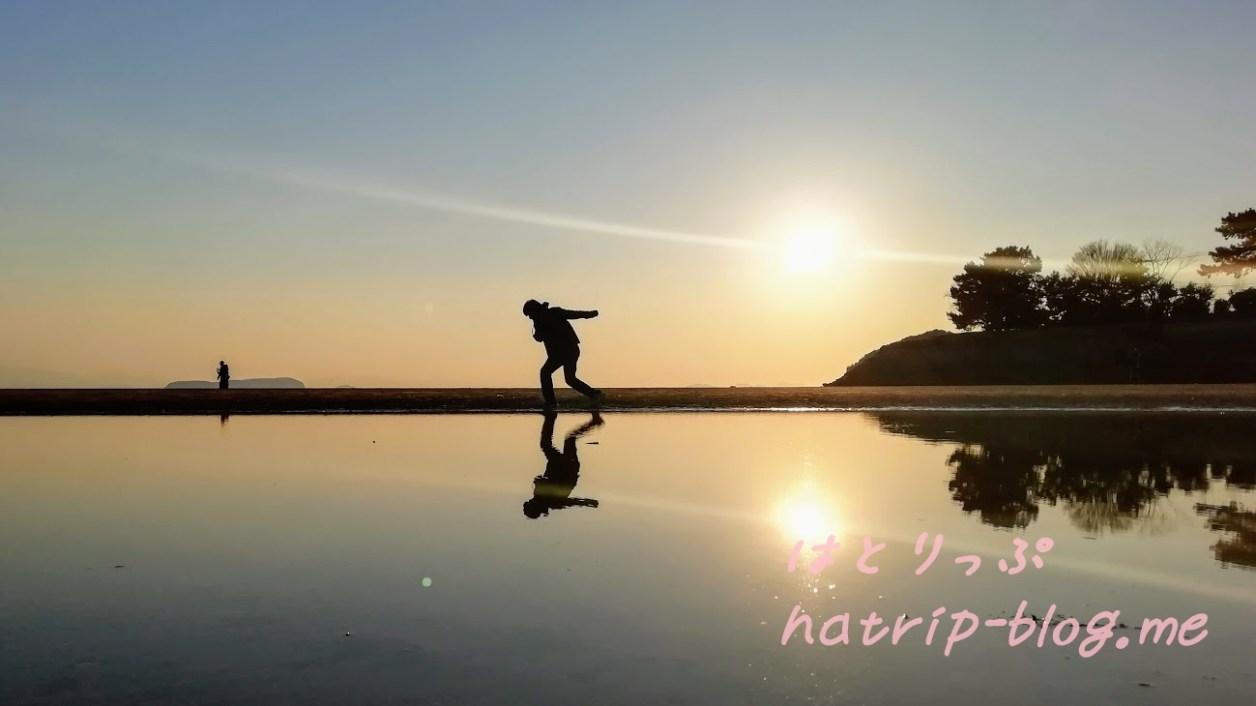 日本 ウユニ塩湖 父母ヶ浜海水浴場 写真 撮り方