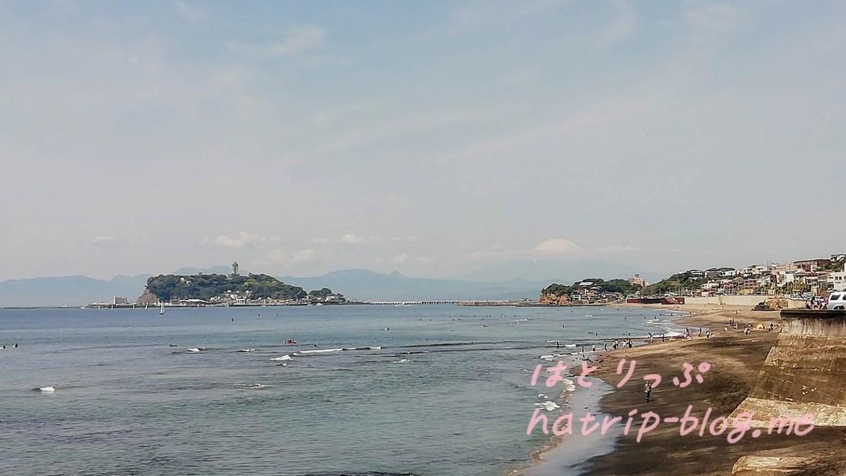 江ノ島 カレー 珊瑚礁本店 海岸 富士山