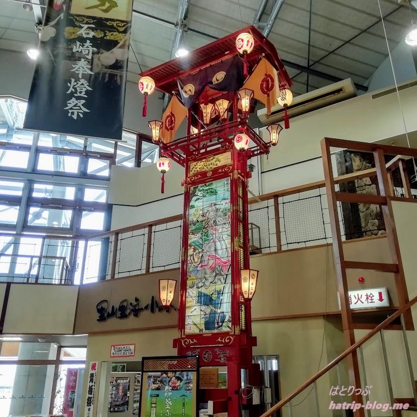 石川県七尾市 道の駅 能登食祭市場 山車輪