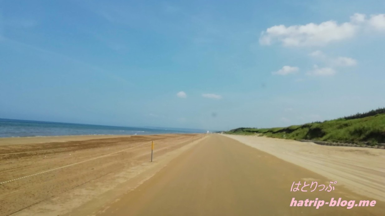 石川県 千里浜なぎさドライブウェイ 今浜海水浴場