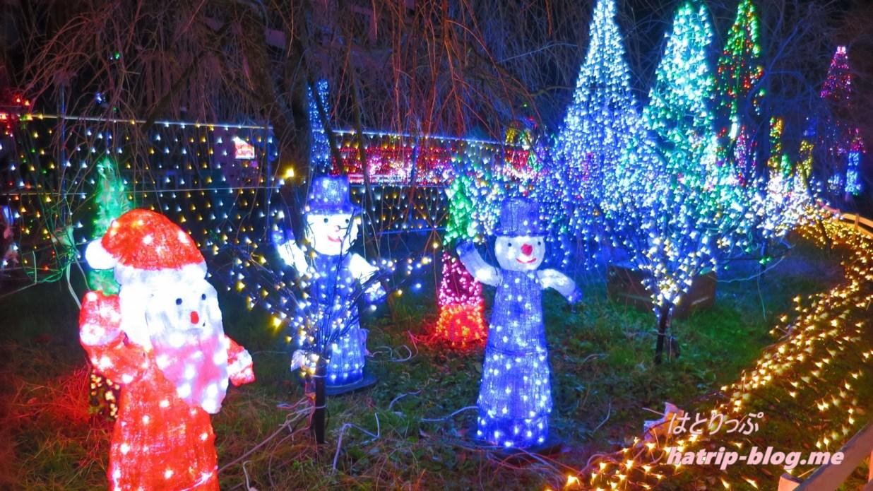 宮ケ瀬ダム クリスマス イルミネーション イルミネーションロード サンタクロース