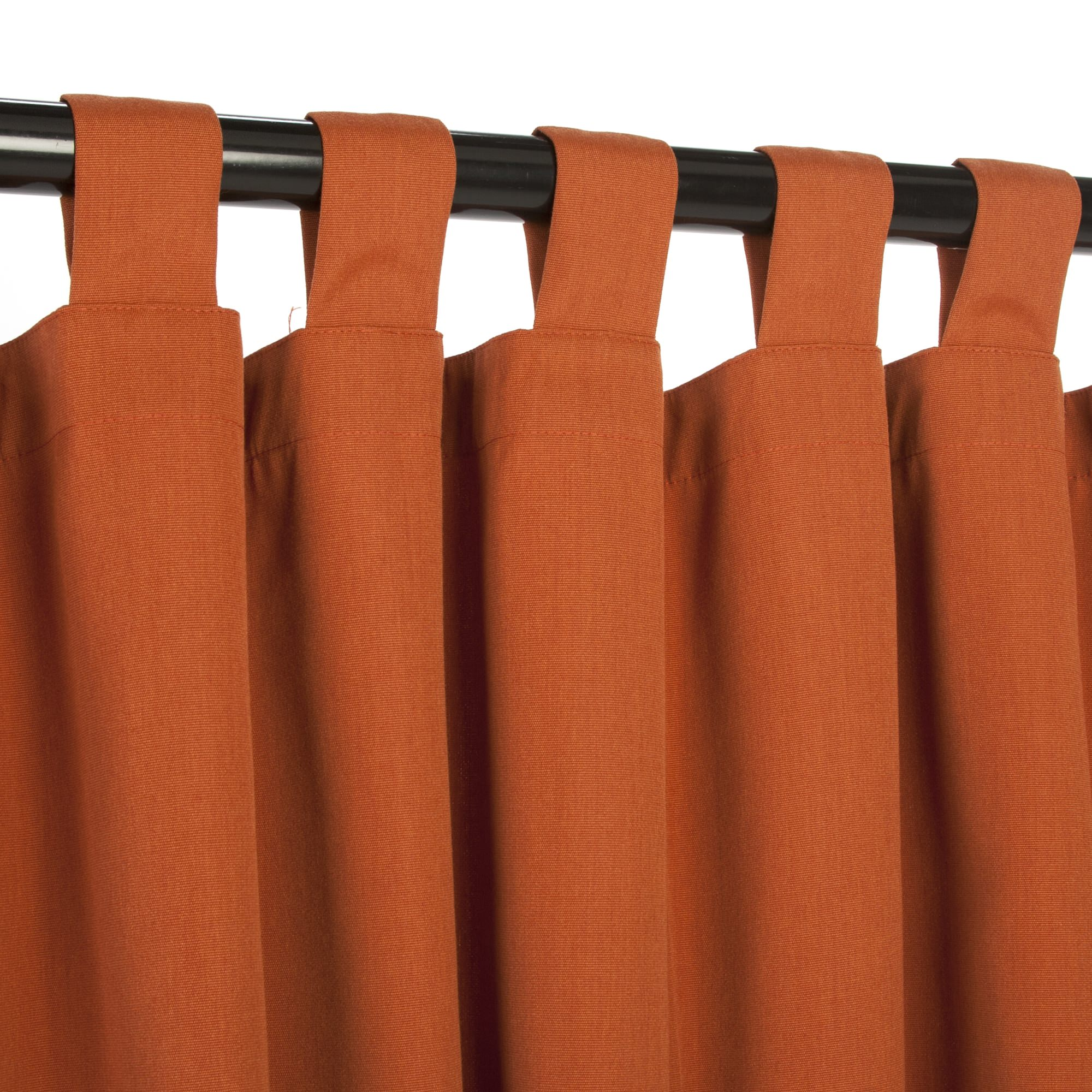 Rust Sunbrella Outdoor Curtains With Tabs