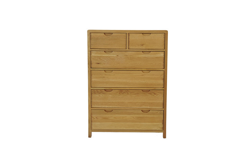 Ercol Bosco Bedroom Six Drawer Tall Wide Chest Hatters