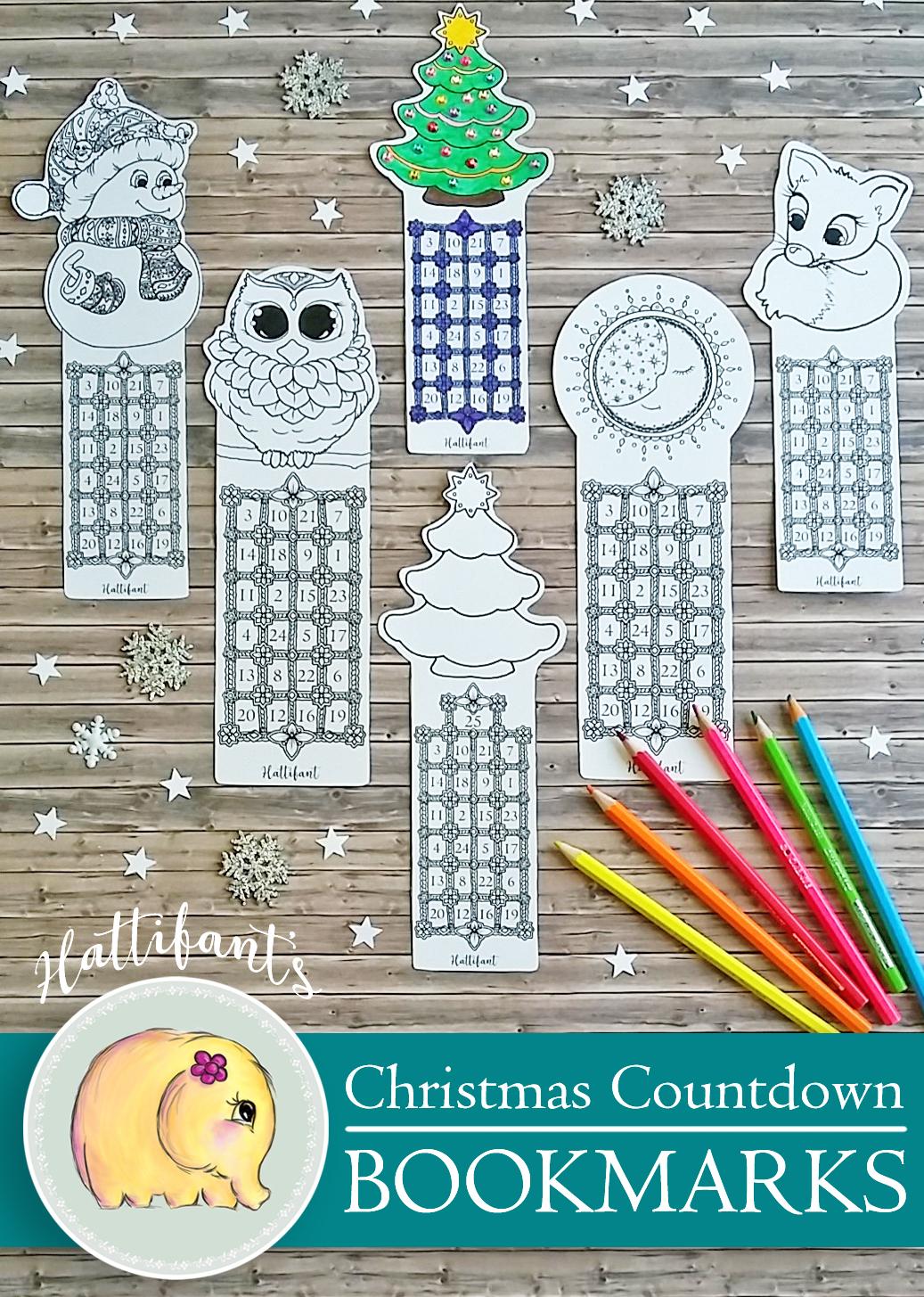 Christmas Countdown Bookmarks Hattifant