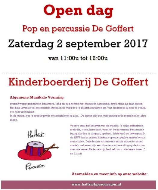 Open dag Pop en Percussie de Goffert AMV lessen