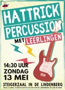 hattrick percussion concert 13 mei 2018
