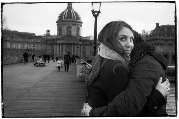 Sur la Passerelle des Arts, Paris 1er