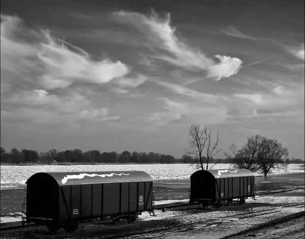 des wagons au vieux port. Gross-Neuendorf.