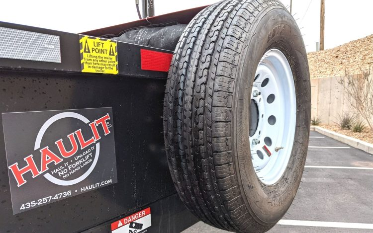 spare tire and mounting bracket