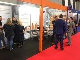 Customers visiting the HaulTech stand at the 2019 CV Show