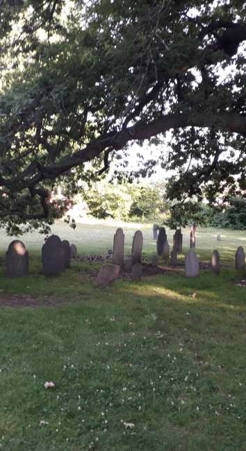 The Burying Place and the Witches Memorial, Salem. U.S.A