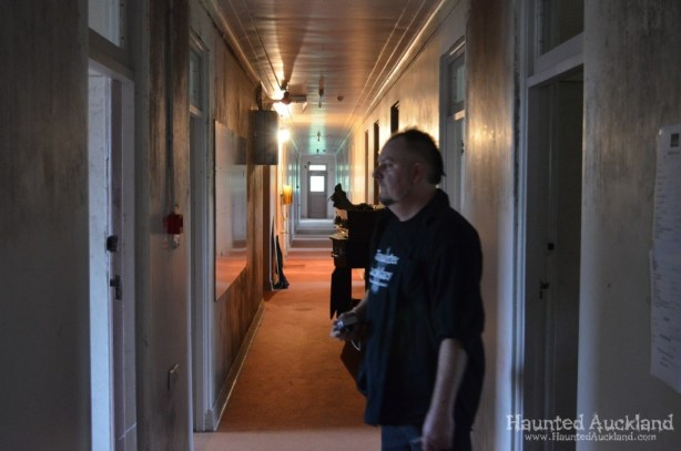 Mark investigates the Administration corridor - Spookers, Kingseat
