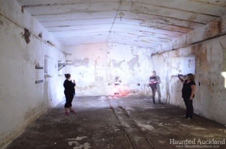 Mine Room No. 3 - Investigators in action - Torpedo Bay Naval Museum
