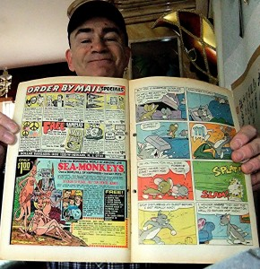 Me holding sea monkeys advert in Gold KeyTom and Jerry comic book, August 1972 issue, 1a