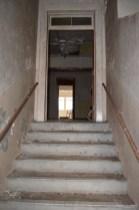 Heading upstairs, Admin Building