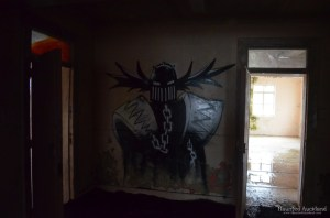 Maximum Security interior, graffiti