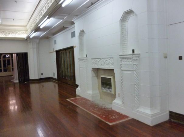 Ballroom fireplace