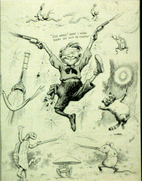 Gee whiz! Don't I wish every day wuz de fourth! E.W. Kemble, c. 1904 Source: The Library of Congress