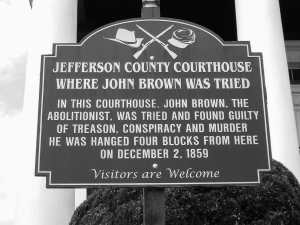 Jefferson County Courthouse Sign Black and White Photography