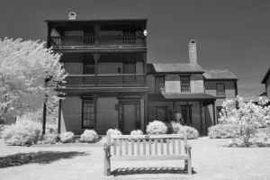 The Haunted Dodson House, St. Michaels, Maryland Infrared Photography
