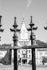 Trans-Allegheny Lunatic Asylum Gate - Black and White Photography