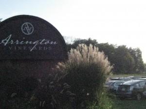 Entrance to Arrington Vineyards