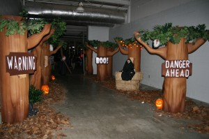 Some of the set at Safe Night Halloween