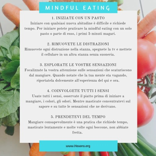 Mindful Eating per perdere peso