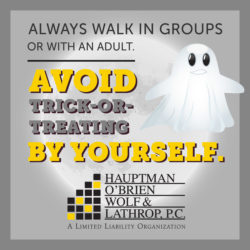 halloween safety tips avoid trick or treating alone