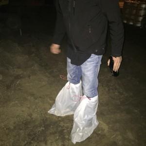 Der Nachbar hatte Angst um seine Pantoffeln.