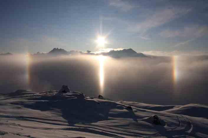 Winterpanorama, Ischgl, Haus Thomas