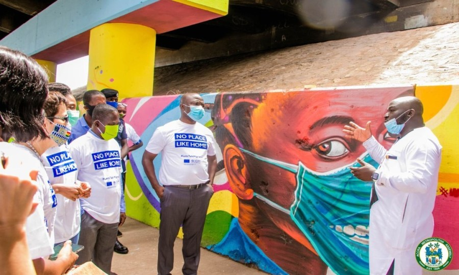 AMA partners IOM to create COVID-19 awareness through art 1