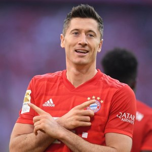 Top scorer in Europe: Robert Lewandowski 1