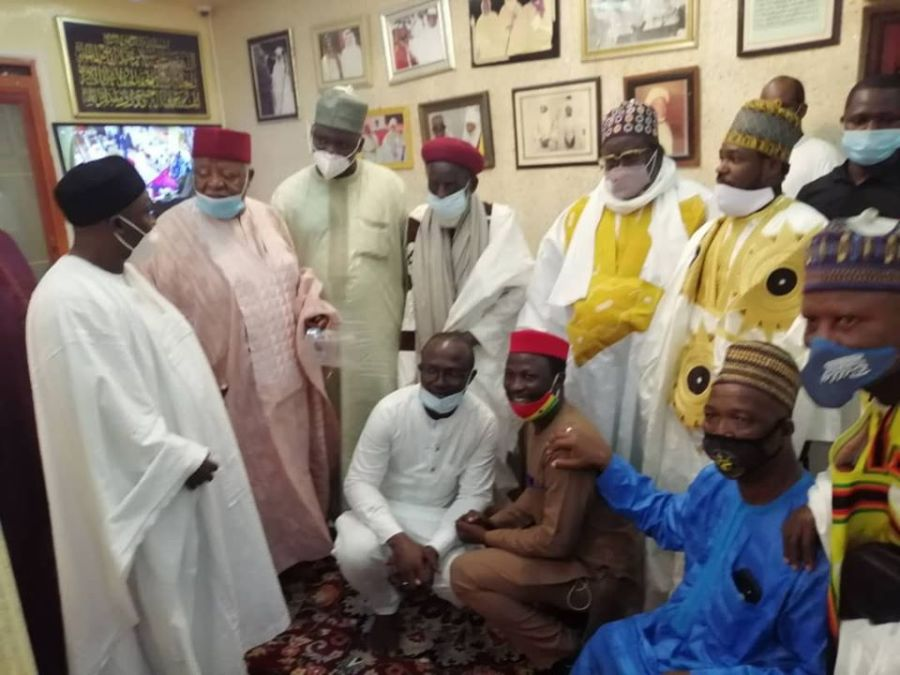 Chief Imam and his entourage at Madina Baye - Senegal 2