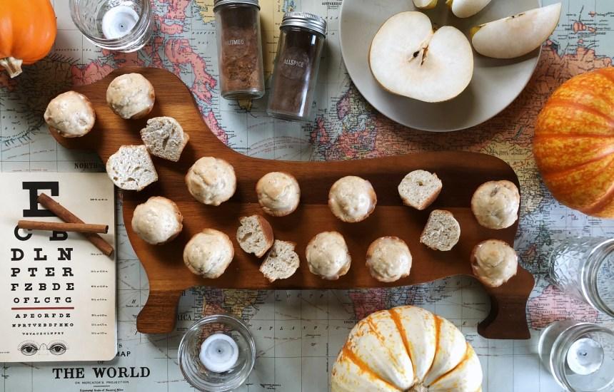 asian pear mini muffins